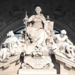 Deusa da Justiça no Palácio de Roma